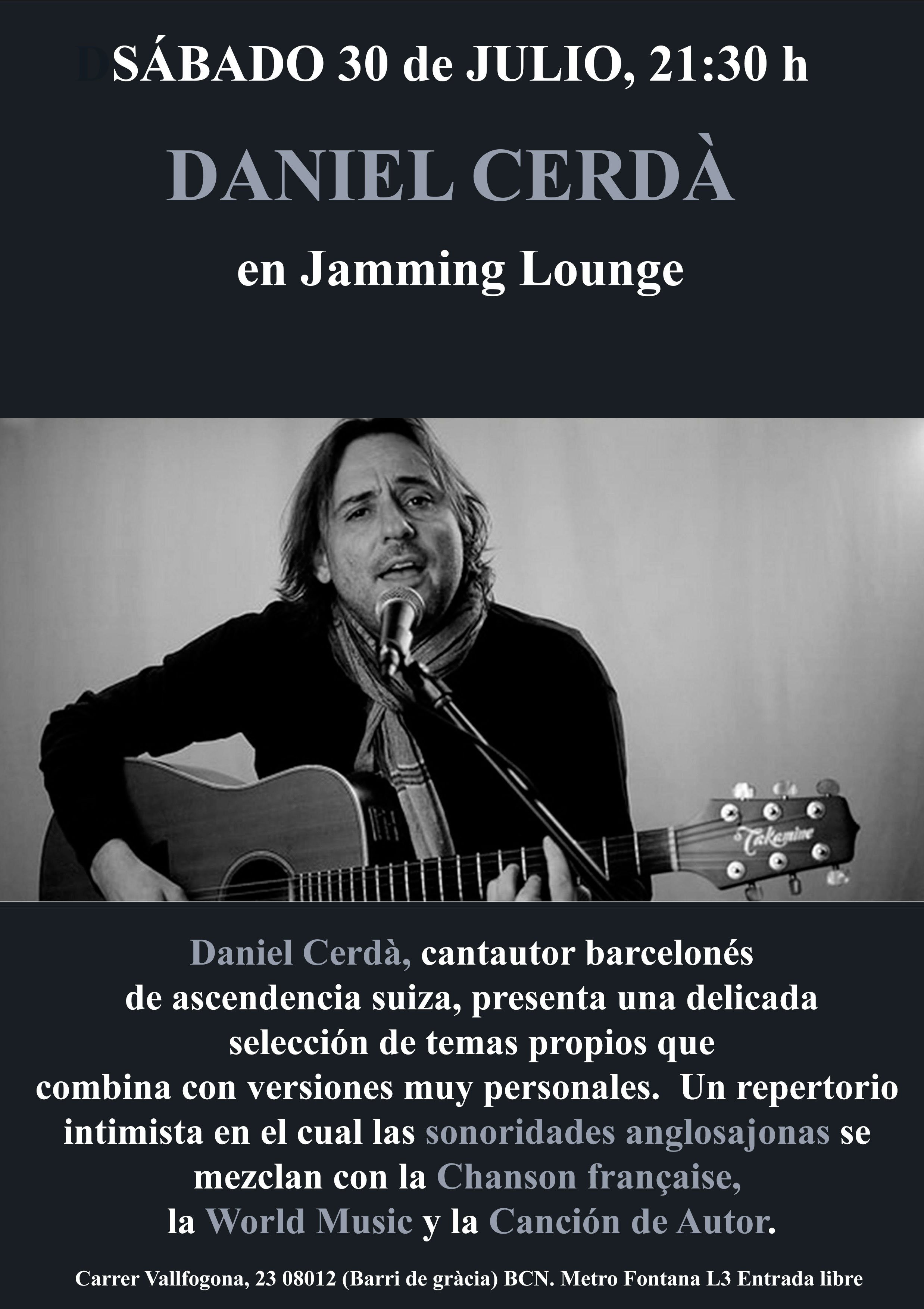 cartel-Dani-para Jamming-30 de julio