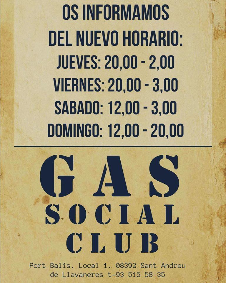 Gas Social Club horarios