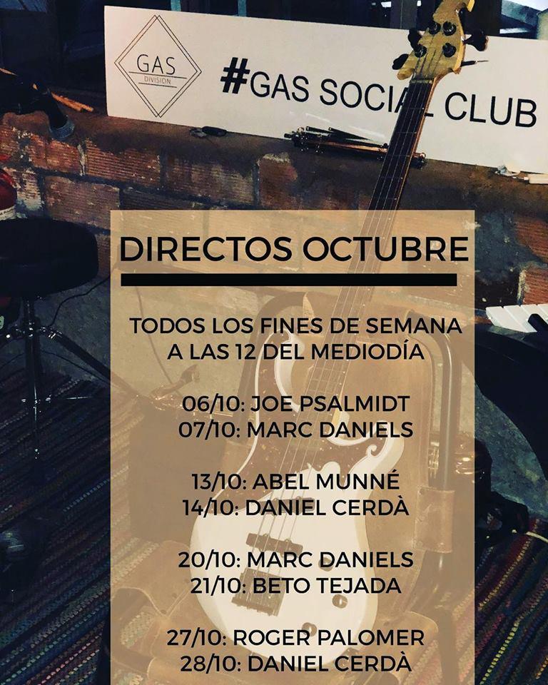 Gas Social Club Octubre